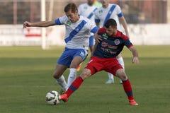 MTK vs Fotbollsmatch för Nyiregyhaza OTP bankliga Fotografering för Bildbyråer