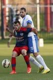 MTK vs Fotbollsmatch för Nyiregyhaza OTP bankliga Royaltyfri Foto