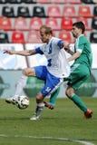 MTK vs. Gyor OTP Bank League football match Stock Image