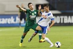 MTK vs. Gyor OTP Bank League football match Royalty Free Stock Photo
