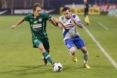 MTK vs. Gyor OTP Bank League football match Royalty Free Stock Image