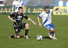 MTK vs. Haladas OTP Bank League football match Royalty Free Stock Images