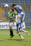 MTK vs. Haladas OTP Bank League football match Stock Photo