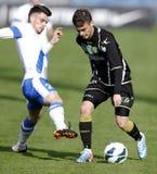 MTK vs. Haladas OTP banka Ligowy futbolowy dopasowanie Fotografia Royalty Free