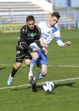 MTK vs. Haladas OTP banka Ligowy futbolowy dopasowanie Zdjęcia Stock