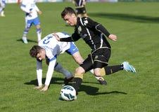 MTK vs. Haladas OTP banka Ligowy futbolowy dopasowanie Zdjęcie Stock
