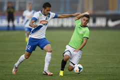 MTK vs. Haladas OTP banka Ligowy futbolowy dopasowanie Zdjęcie Royalty Free