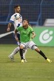 MTK vs. Haladas OTP banka Ligowy futbolowy dopasowanie Obraz Stock