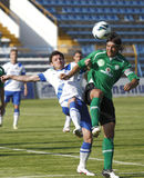 MTK vs. Paks OTP Bank League football match Stock Image