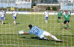 MTK vs. Paks OTP banka Ligowy futbolowy dopasowanie Zdjęcia Royalty Free