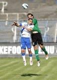 MTK vs. Paks OTP banka Ligowy futbolowy dopasowanie Fotografia Royalty Free