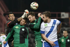 MTK vs. Paksi FC OTP Bank League football match Stock Image