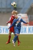 MTK vs. Potsdam football match Royalty Free Stock Photos