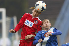 MTK vs. Potsdam football match Royalty Free Stock Images