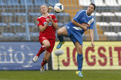 MTK vs. Potsdam football match Stock Images