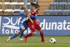 MTK vs. Potsdam football match Royalty Free Stock Photography