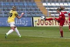 MTK vs. Potsdam football match Stock Photography