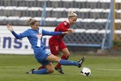 MTK vs. Potsdam football match Stock Photos