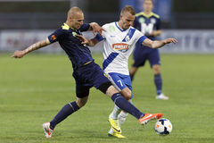 MTK vs. Puskas Academy football match Stock Image
