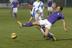 MTK vs. Ujpest OTP Bank League football match Stock Image