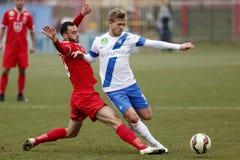 MTK vs. Videoton OTP Bank League football match Royalty Free Stock Photo