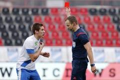 MTK vs. Videoton OTP Bank League football match Royalty Free Stock Photos