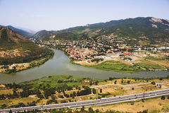 Mtkvari and Aragvi rivers Stock Photography