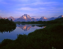 MtMoran&SnakeRiver#5. The Oxbow Bend of the Snake River and Mt. Moran in Grand Teton national Park, Wyoming Royalty Free Stock Image