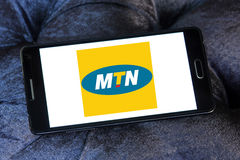 Mtn mobile operator logo Royalty Free Stock Images