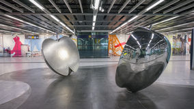 MTR Kennedy Town apple art - The extension of Island Line to Western District, Hong Kong Stock Photo