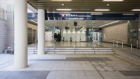 MTR Kennedy Town Exit B - l'estensione della linea dell'isola al distretto occidentale, Hong Kong Immagine Stock