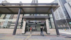 MTR Kennedy Town Exit A - l'estensione della linea dell'isola al distretto occidentale, Hong Kong Fotografia Stock Libera da Diritti