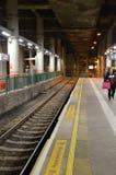 MTR platforma przy Sam Shing przerwą, Hong Kong Zdjęcia Stock