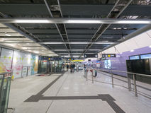 MTR Sai Ying Pun station concourse - The extension of Island Line to Western District, Hong Kong. The extension of Island Line to Western District of Hong Kong Royalty Free Stock Images