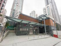 MTR Sai Ying Pun station Exit B2 - The extension of Island Line to Western District, Hong Kong. The extension of Island Line to Western District of Hong Kong MTR Royalty Free Stock Image