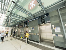 MTR Sai Ying Pun station Exit C - The extension of Island Line to Western District, Hong Kong Royalty Free Stock Photos