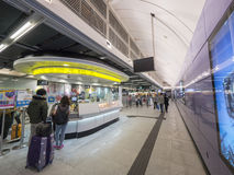 MTR Sai Ying Pun station service centre - The extension of Island Line to Western District, Hong Kong Stock Image
