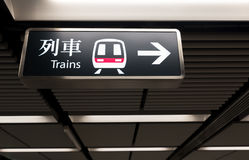 MTR train station sign Royalty Free Stock Images