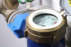 Mètre d'eau Photographie stock