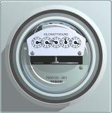 Mètre d'énergie électrique Photo libre de droits