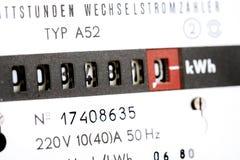 Mètre de l'électricité Photo libre de droits
