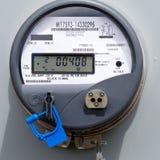Mètre digital résidentiel d'alimentation d'énergie de réseau intelligent Images stock
