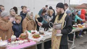 Mtsensk, Rússia 15 de abril de 2017 EDITORIAL - A festa gloriosa da Páscoa Christ é levantado vídeos de arquivo