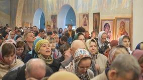Mtsensk, Rússia 15 de abril de 2017 EDITORIAL - A festa gloriosa da Páscoa Christ é levantado video estoque