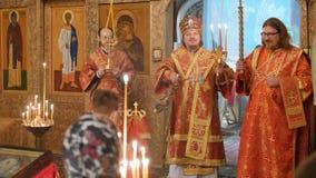 Mtsensk, Rússia 15 de abril de 2017 EDITORIAL - A festa gloriosa da Páscoa Christ é levantado filme