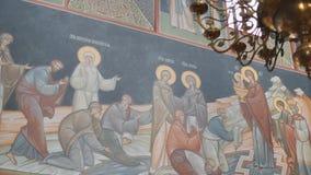 Mtsensk, Rússia 15 de abril de 2017 A festa gloriosa da Páscoa Christ é levantado vídeos de arquivo