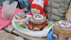 Mtsensk, Russia 15 April 2017. EDITORIAL - The glorious feast of Easter. Christ is risen.