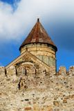 Mtsheta Cathedral. Ancient capital of Georgia - Mtsheta and old church in it Royalty Free Stock Photos