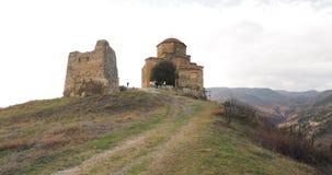 Mtskheta, Geórgia Jvari, monastério ortodoxo Georgian, patrimônio mundial pelo UNESCO Templo antigo vídeos de arquivo