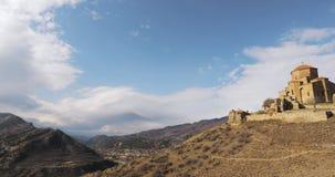 Mtskheta, Geórgia Jvari, monastério ortodoxo Georgian, patrimônio mundial pelo UNESCO Templo antigo filme